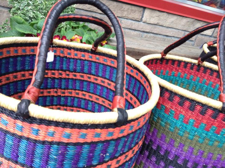 Handmade Baskets from Ghana - Fair Trade - Artisans - Blog | Three Bags Full Knit Shop - Vancouver