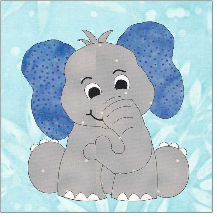 Картинка слоника аппликация