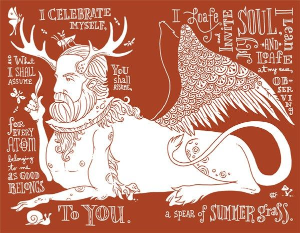 """Walt Whitman's """"Song of Myself,"""" Reimagined in Beautiful Illustrations by Artist Allen Crawford – Brain Pickings"""