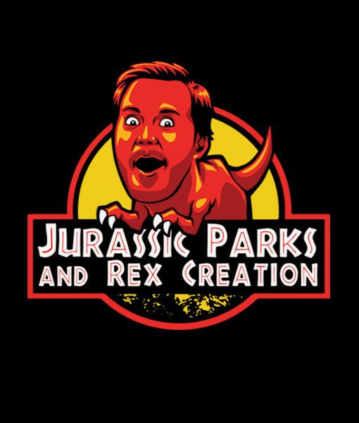 Jurassic Parks and Rex Creation Men's T-Shirt  Chris by Yipptee