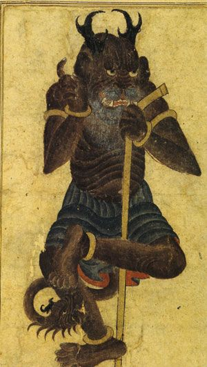 Detail of a miniature attributed to Mehmed Siyah Qualem. Topkapi Palace archives, Istanbul. Between 1300 and 1500 AD.