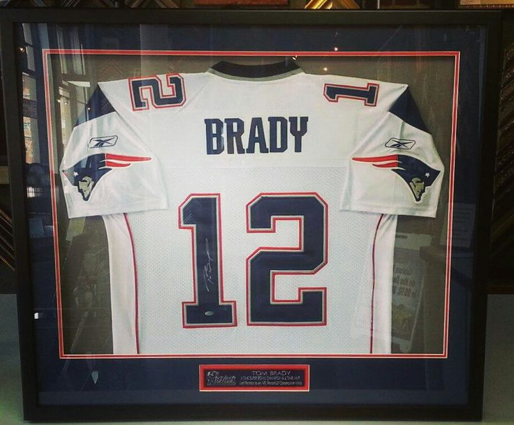 Though we wish our Broncos were playing today, it just wasn't meant to be. In honor of the #SuperBowl, here is a Tom Brady jersey we framed a few years back. Have a great Super Bowl Sunday, everyone! Custom framed by FastFrame of LoDo. #denver #colorado #jerseyframing #sportsframing #patriots #tombrady