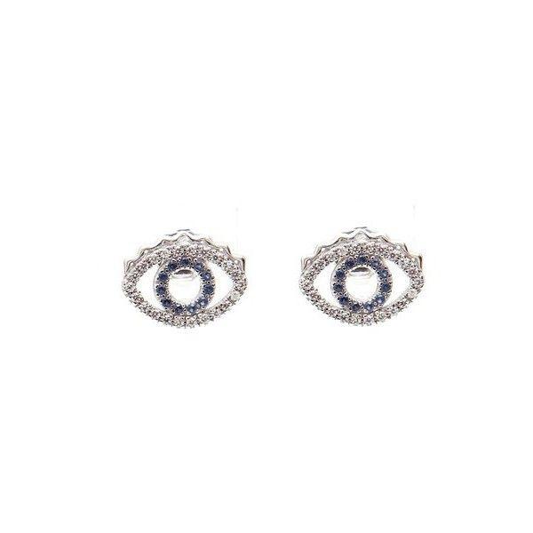 KENZO 'Mini Eye' Sterling Silver Earrings. 183 Gr (£94) ❤ liked on Polyvore featuring jewelry, earrings, silver, sterling silver jewelry, kenzo jewellery, earring jewelry, sterling silver jewellery and sterling silver earrings