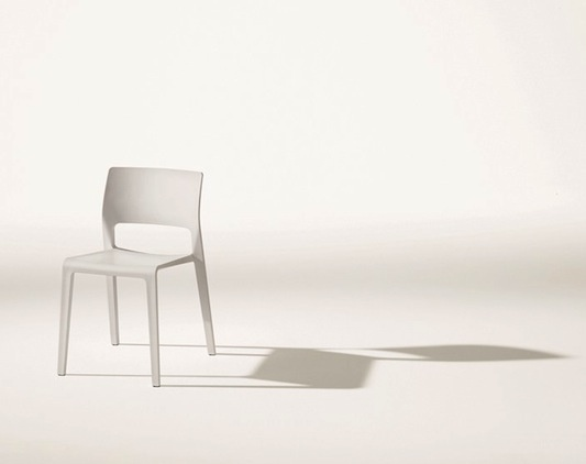 Juno chair by James Irvine. Suitable for outdoor use, stackable, and available in 5 colors: Pin Perepette, Color, Juno Chair, Dining Chairs, James D'Arcy, Outdoor, Perepette Pan