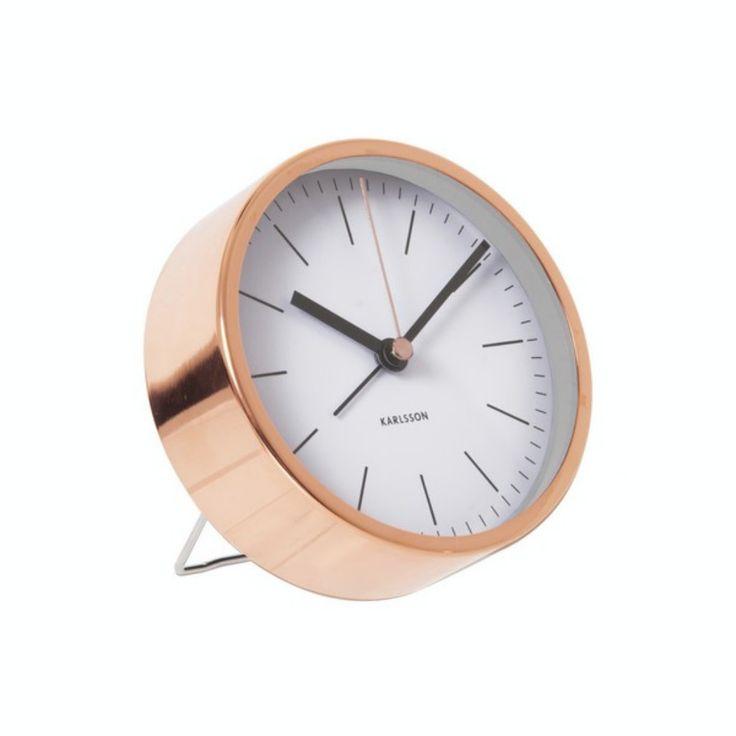 Minimal Alarm Clock - White