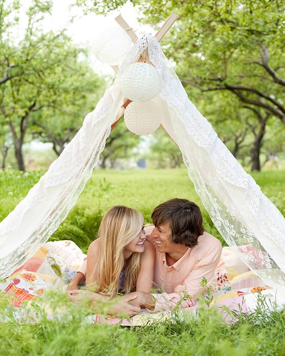 Christine Olson Photography: A-Frame Tent Engagement