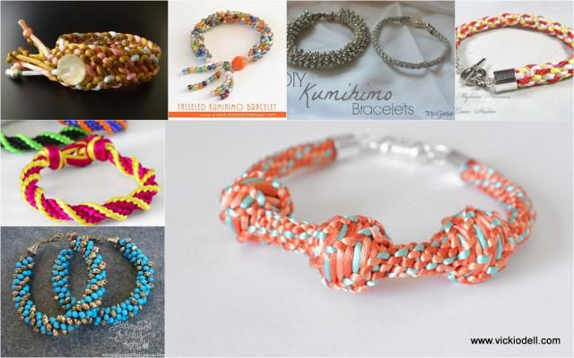 Kumihimo Jewelry | See more about Jewelry making and Jewelry.