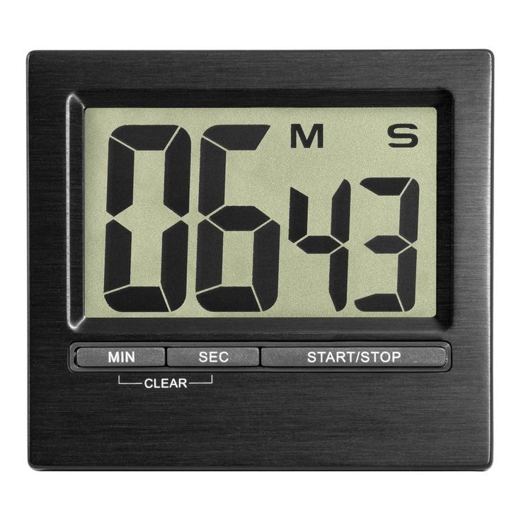 3 in. Square Black Indoor Station With Digital Countdown Timer And Stopwatch