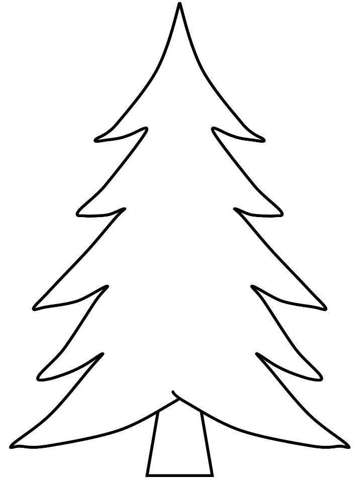 Pine Tree Coloring Page For Preschool Kids Arbre Noel Colore