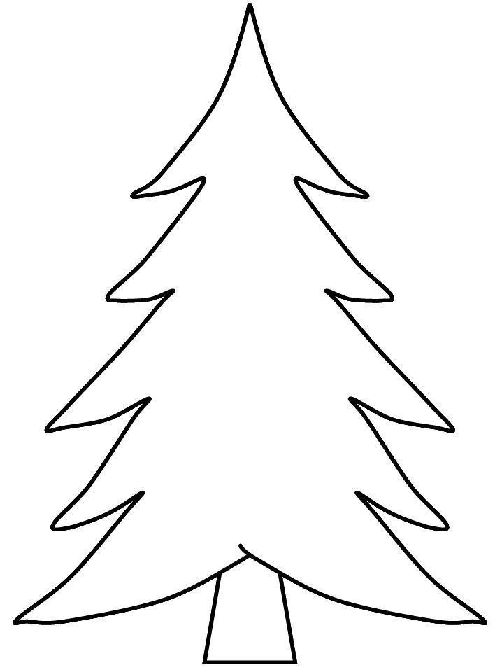Pine Tree Coloring Page For Preschool Kids Arbre Noel Colore