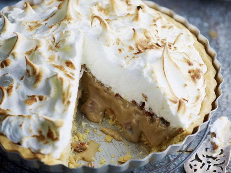 Sweet, soft and rich, this caramel meringue pie is the perfect comfort food dessert.