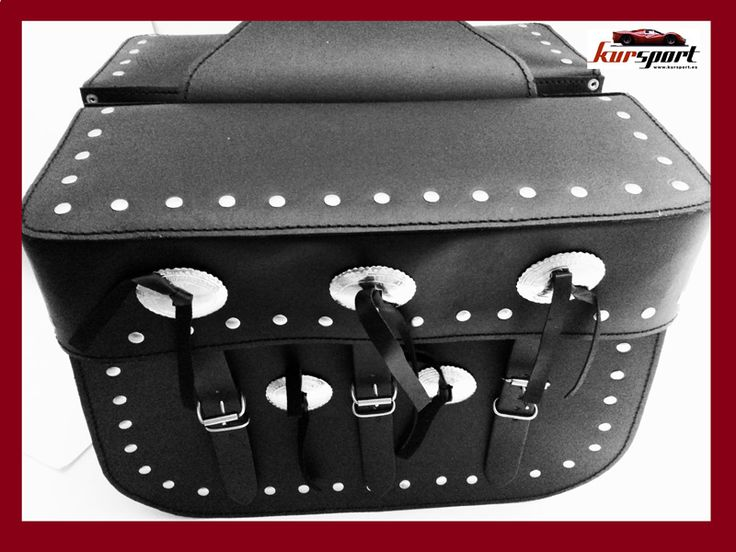 Echa un vistazo a este producto en Yodetiendas.com:  Alforjas de cuero PU 27 litros #alforjas   #moto  #custom #biker  #kursport #rulo #accesoriosmoto