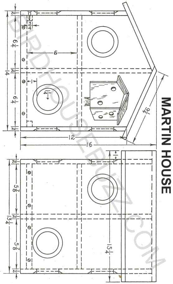 Purple Martin House Plans. By birdhouse buzz