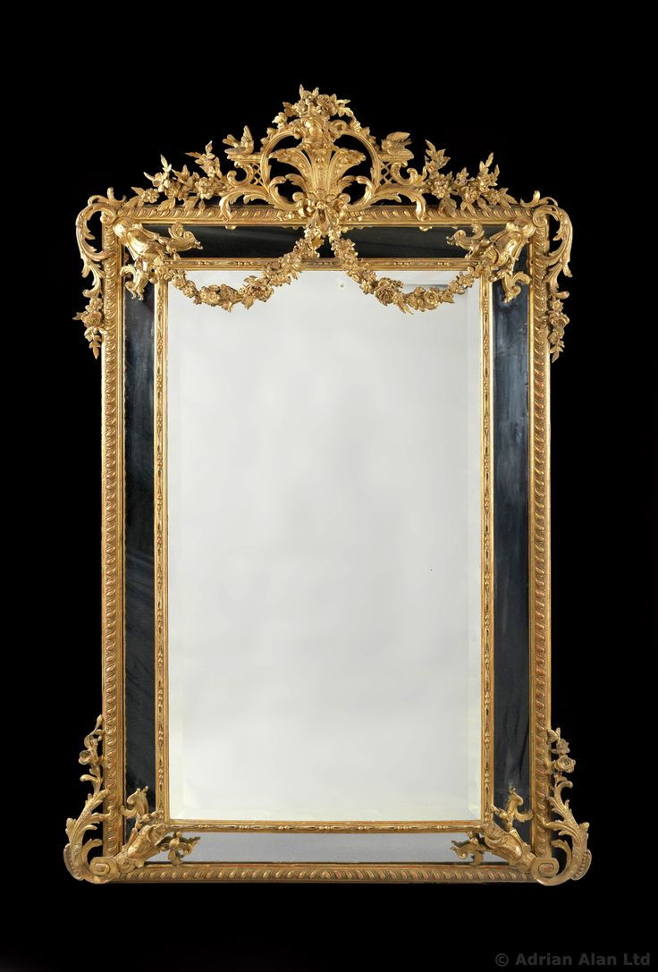 A Large And Finely Carved Louis Xvi Style Marginal Frame