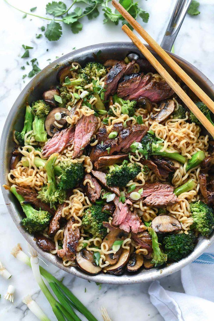 Asian Marinated Steak with Ramen Noodles!
