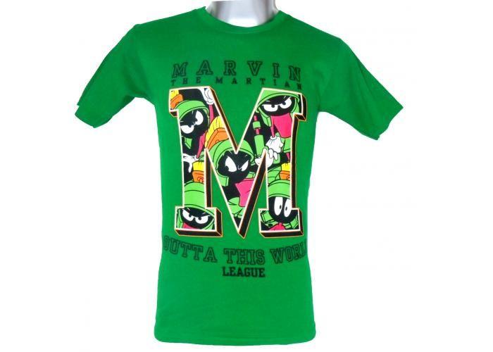 Playerarte.Mx: Looney Toons Marvin el Marciano - Verde - Hombre