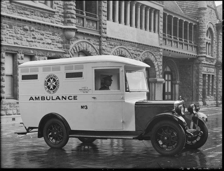014540PD: St John Ambulance Association ambulance no.3, Perth, 1929. http://encore.slwa.wa.gov.au/iii/encore/record/C__Rb3418243__S014540pd__Orightresult__U__X3?lang=eng&suite=def