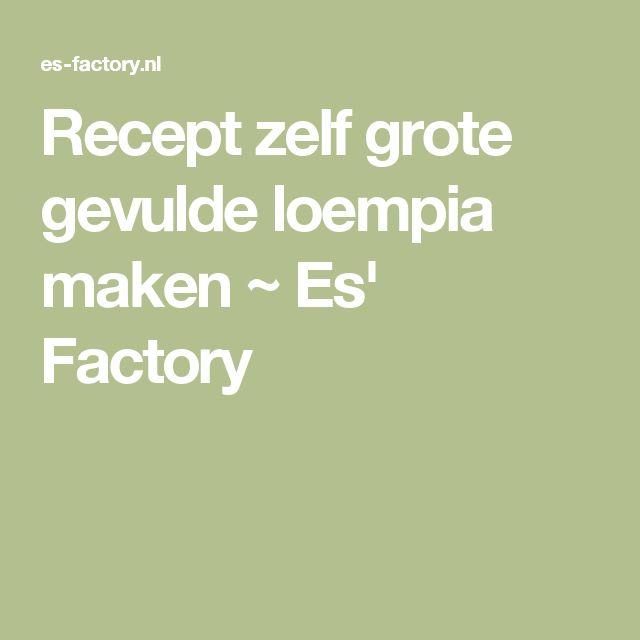 Recept zelf grote gevulde loempia maken ~ Es' Factory
