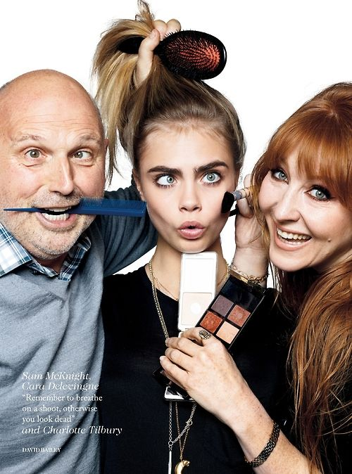 Sam McKnight and Charlotte Tilbury are awesome. Cara Delevingne by David Bailey for Vogue UK July 2013.