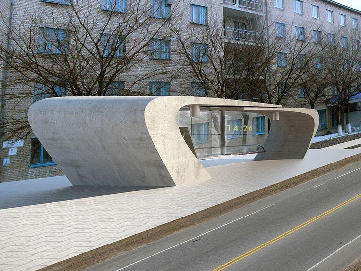 Image result for modern bus stop designs