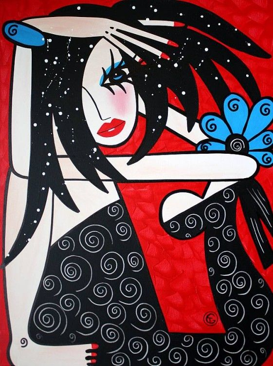 Original Modern Abstract Pop Art on Canvas