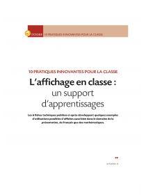 Librairie-Interactive - L'affichage en classe