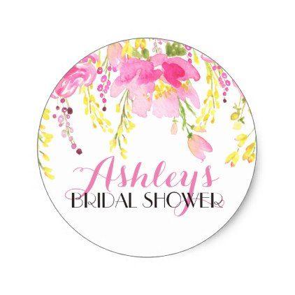 flower bridal shower sticker bridal showers wedding stickers and bridal flowers