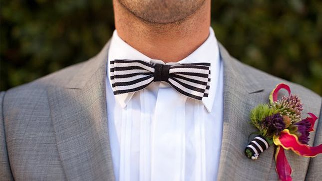 黑色和白色條紋婚禮創意