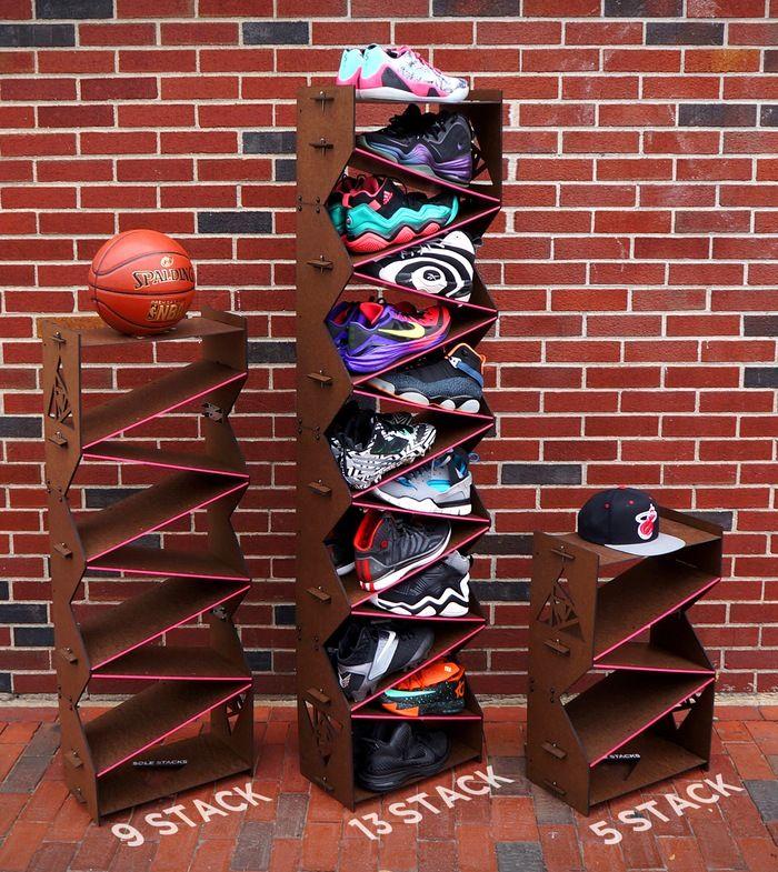 Sneaker storage, Kickstarter, Sole Stacks