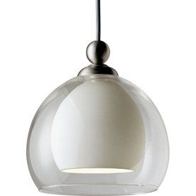 progress lighting illumaflex 1light brushed nickel sphere flexible t