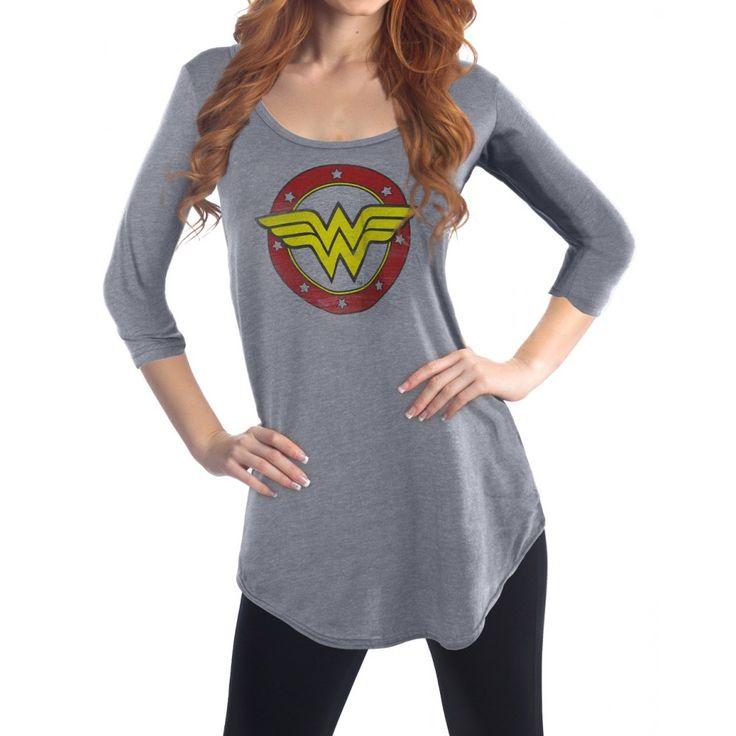 DC Comics Wonder Woman Three Quarter Sleeve Cover Up