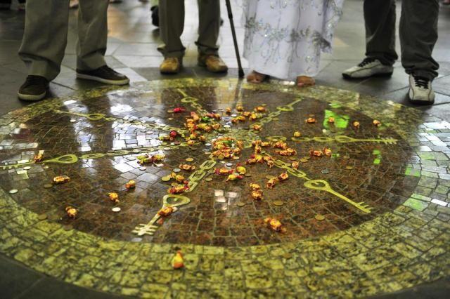Memorial do Bará do Mercado no centro do Mercado Público de Porto Alegre-RS.