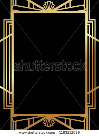 art deco gatsby inspired roaring 20s style frame template vector