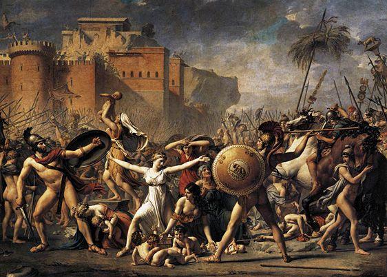 L'Enlèvement des Sabines, 1799, Jacques Louis David, Paris, musée du Louvre