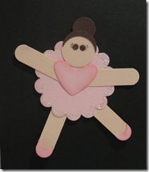 ballerina craft. They could color the skirt and the heart before gluing. For @Montell Lanier