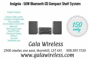 Wanted: INSIGNIA -50W BLUETOOTH  CD COMPACT SHELF SYSTEM