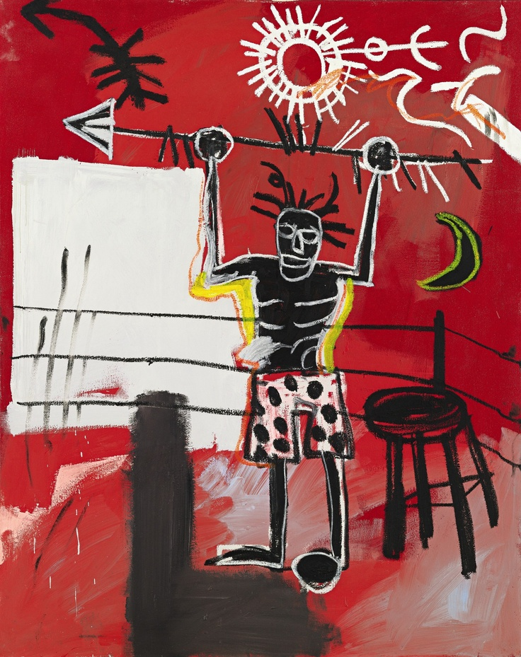 Contemporary Art, New York: Jean-Michel Basquiat, 'The Ring' from the Estate of Theodore J. Forstmann, painted in 1981