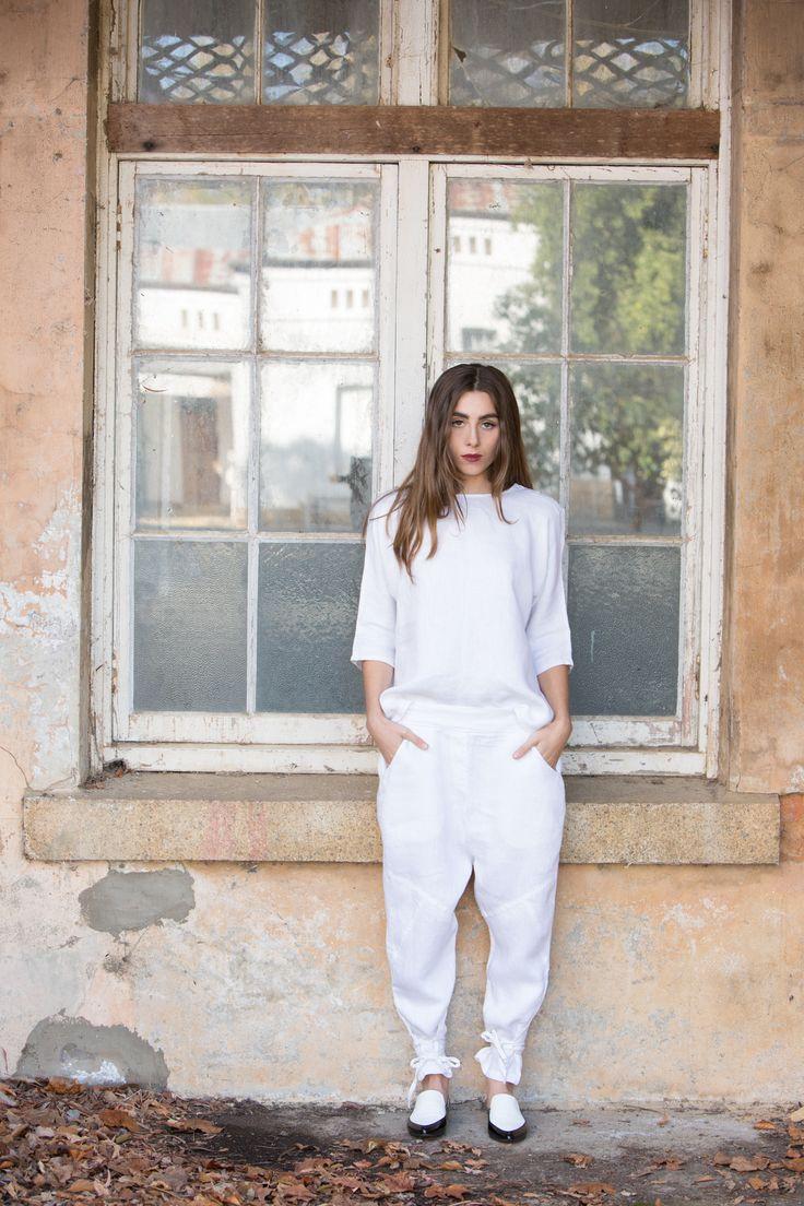 CLOVER HAREM PANT | White