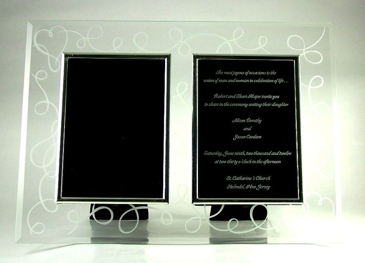 love story double frame with engraved invitation glass picture frame wedding anniversary