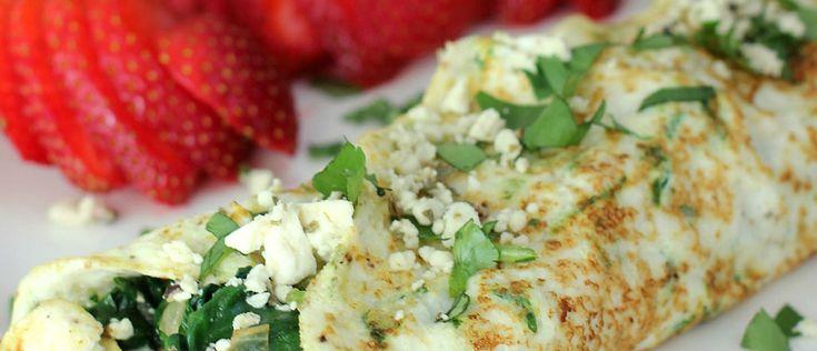 Omelete de claras e espinafre ao forno - Lucilia Diniz