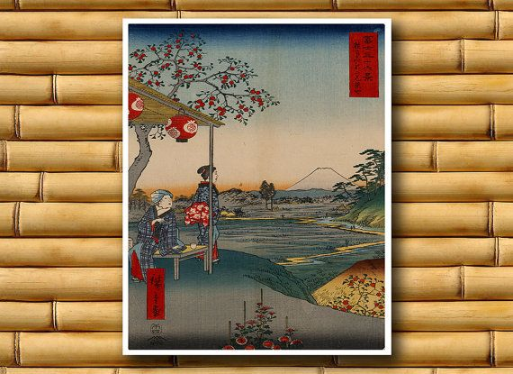 Asian Art Japanese Landscape Poster Asian Decor Japan Art Print (J9)