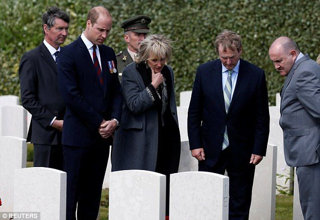 The Duke of Cambridge arrived in Belgium today to pay solemn tribute to soldiers from Irel...