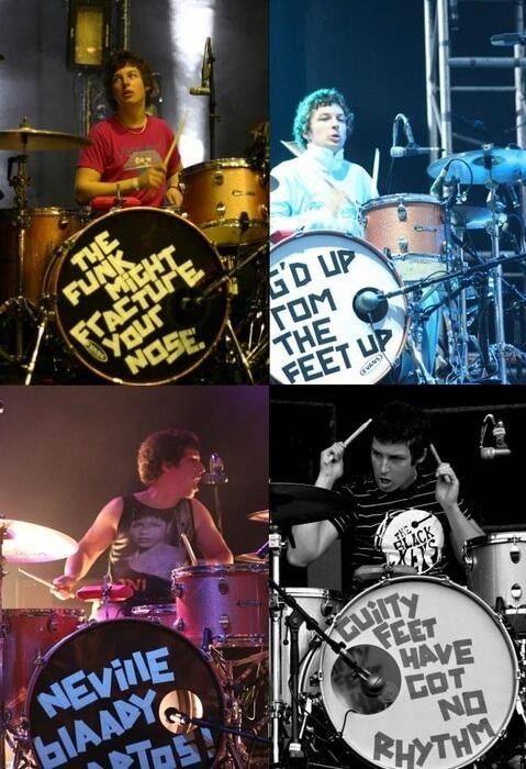 Matt and his drum quotes; also the fact that he's wearing a Black Keys shirt...this has ALL made my day!!