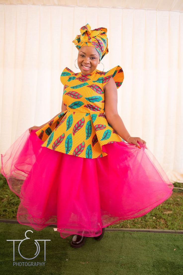 African bride traditional attire