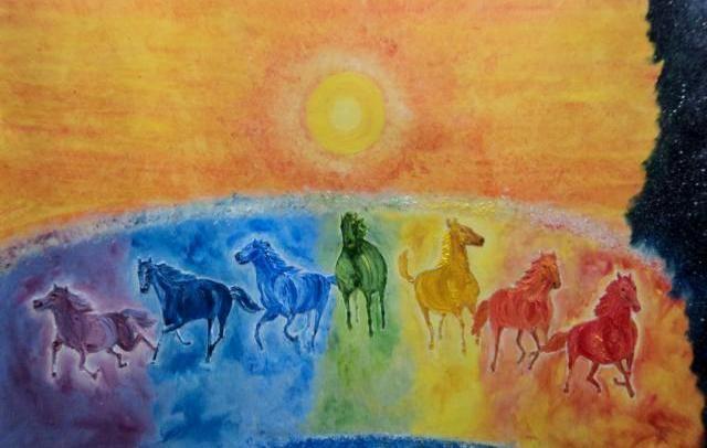 Vibgyor, 7 colors in sun light, curing of heart & skin diseases with chromotherapy or chromopathy in Rig Veda, Atharva Veda, Pranopanishad & Matsya Purana