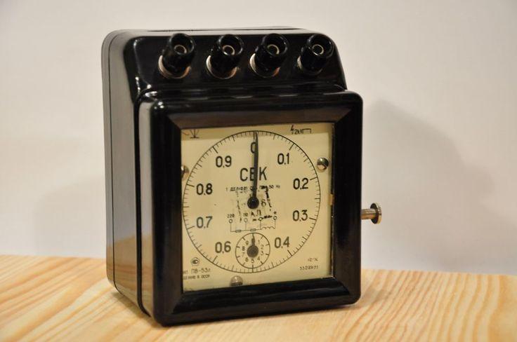 Electric mechanical clock timer STOPWATCH PV-53L LABORATORY USSR Soviet