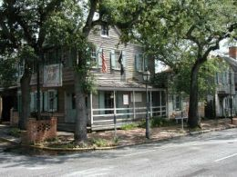 The Pirates House in Savannah Georgia is supposed to be one of the most haunted places in the world. Be sure to click the photo and read the story.