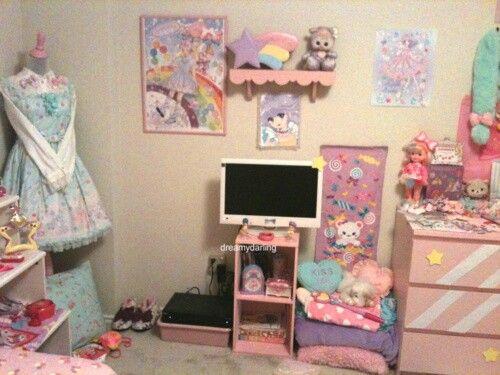 Les 69 meilleures images du tableau lolita room sur for Decoration chambre kawaii