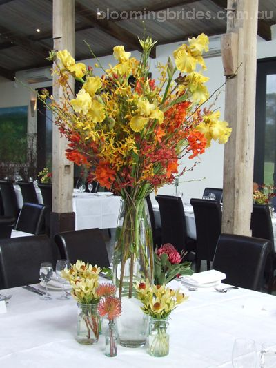 beautiful Australian native flower table decorations