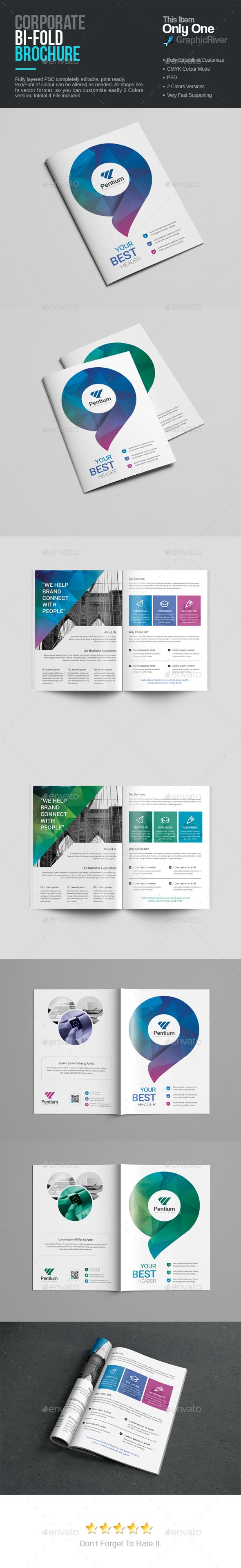 bifold brochure template - 1000 images about brochure templates on pinterest